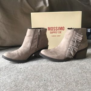 "Mossimo ""Reza"" tan fringe bootie"